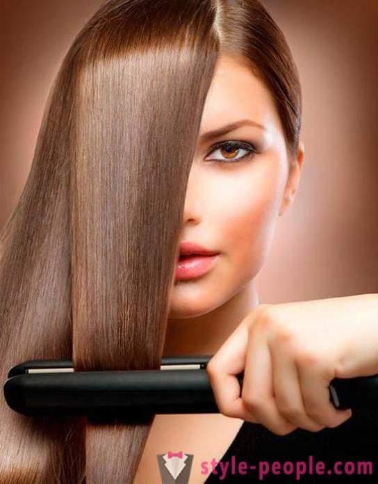alisse o cabelo por um longo tempo : as estradas principais. Agite o cabelo em casa